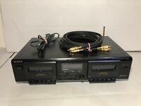 Sony TC-WE305 Dual Cassette Tape Deck Recorder High Speed Dub Double Player W/AV