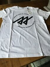 JACK AND JONES Large white printed t shirt
