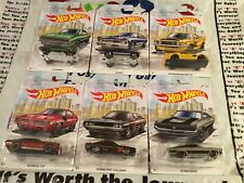 Hot Wheels Muscle Car Set - Ford Chevy Pontiac Dodge