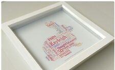 Personalizado De Conejo Bunny cumpleaños regalo de Navidad Pascua recuerdo palabra Art Print