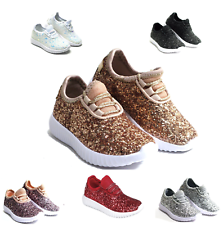 a86d3aae988e40 New Baby Toddler Girls Glitter Lace Up Fashion Shoes Comfort Athletic  Sneakers