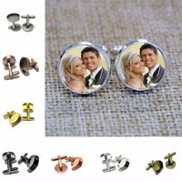 10PCS Black/Silver/Bronze/Gold/Copper 16/18/20mm Round Blank Settings Cuff Links