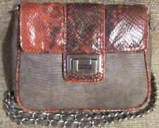 Poppie Jones Purse Faux Leather SnakeskinPrint Convertible Cross Body Messenger