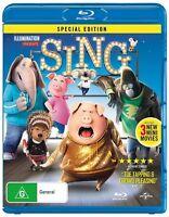 Illumination presents Sing Blu-Ray NEW Region B