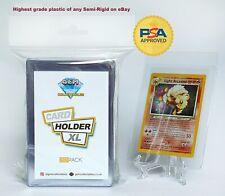 Semi Rigid Card Holders Pokémon Professional Saver PSA Submissions 50 Sleeves UK