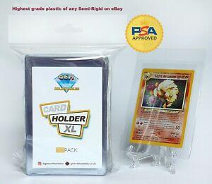 Clear Plastic Card Holders Pokemon Professional Semi Rigid Saver PSA 50 Sleeves