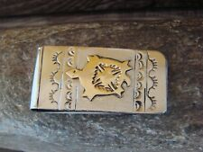 Native American Jewelry Hand Stamped Money Clip! 12 kt. Gold Fill Turtle