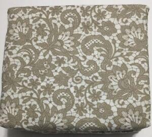 Flannel Sheet Set KING Size 4 Piece 100% Cotton Heavy Deep Pocket Beige Brown