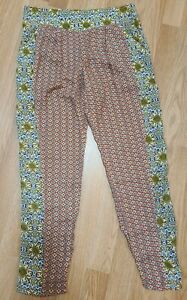 free people Boho womens size XS  tapered Floral crop pants with pockets