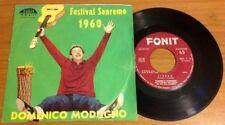 """DOMENICO MODUGNO / LIBERO - NUDA - 7"""" (Italy 1960)"""
