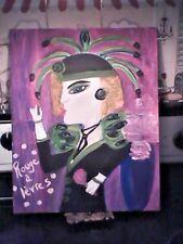 LIPSTICK LADY Rouge à lèvres Art Deco Style Original Art by Linda Stamberger