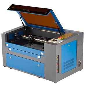 50W CO2 Laser Engraver Cutter Cutting Engraving Machine 30x50cm w/  Rotary Axis