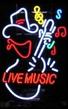 "New Live Music Guitar Musical Notes Bar Neon Light Sign 17""x14"" Man Cave Lamp"