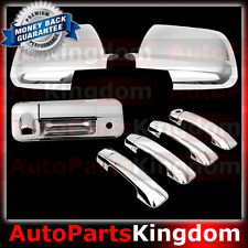 07-13 TOYOTA TUNDRA Mirror+ Chrome 4 Door Handle+Tailgate w.Keyhole Camera Cover