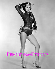CYD CHARISSE 8X10 Lab Photo 1950s Sexy Leggy, Cowgirl with Gun Holster Portrait