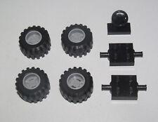 Lego ® Lot x4 Roue Jante Pneu Essieu Volant Tire Car Wheel 6014 + 4600 + 3829