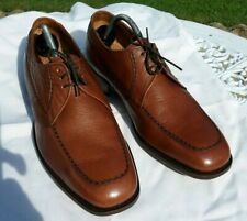 Mens Vintage LOAKES Tan All Leather WOKING size 8.5 wide fit .