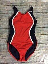 The Finals Women's Bathing Suit Blue Red White One-Piece Competition 42 XXL-long