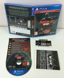 Friday The 13th Game Ultimate Slasher PS4 Playstation 4 Insert Poster CIB PAL
