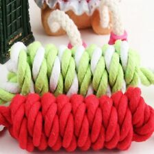 New listing Pet Dog Chew Toy Braided Rope Applied Puppy Chewing Braid Knot Ball Joint #U1S
