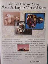 9/1993 PUB TEXTRON LYCOMING LF507 TURBOFAN ALF502 PLF1A AIRLINER ORIGINAL ADVERT
