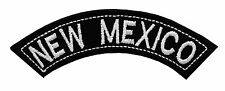 NEW MEXICO TOP MINI ROCKER EMBROIDERED MOTORCYCLE PATCH