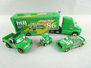 Disney Pixar Cars HTB CHICK HICKS Semi Truck Hauler Headset Truck Pitty Car
