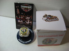 HOUSTON ASTROS WORLD SERIES Replica Ring 2018 SGA QC River Bandits 6/6/18 & tic.