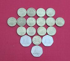 Selection of Various Gibraltar Coins (1p, 2p, 5p, 10p, 20p, 50p, £1, £2)