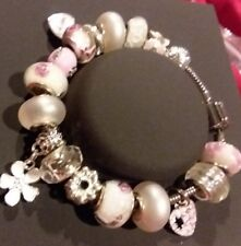 AUTHENTIC PERSONA CHARM BRACELET W/EXQUISITE EUROPEAN  CHARMS BEADS + GIFT BOX