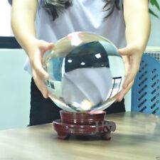 150mm Huge Asian Quartz Clear Magic Crystal Cut Healing Ball Sphere +Wood Stand