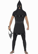 Smiffy's Dungeon Master Executioner Gothic Adult Costume Black Tunic and Hood