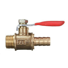 1/4Inch Male Female NPT Brass Ball Valve Water Moisture Air Tank Drain Shut Off