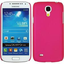 Coque Rigide Samsung Galaxy S4 Mini - gommée rose chaud + films de protection