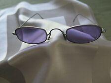 MORGENTHAL FREDERICKS Oval Lavender Sunglasses