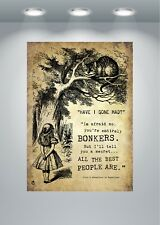 Alice In Wonderland Bonkers Quote 2 Poster Art Print - A0 A1 A2 A3 A4 A5 Maxi