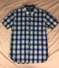A46 Brooks Brothers Red Fleece Plaid Small 100% Cotton Button Down Shirt