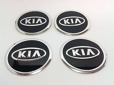 NEW 4pcs Decal Alu Stickers for Wheel Centre Cap Hubs for KIA - 60mm