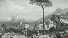 ITALY Island of Ischia - 1850 SUPERB Antique Print