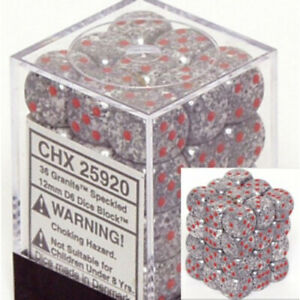 Dice and Gaming Accessories D6 Sets Speckled Speckled: 12mm D6 Granite (36)