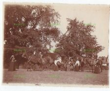 OLD RURAL PHOTOGRAPH HORSE RIDING MR COLINA'S FARM DUNMOW ESSEX VINTAGE 1897