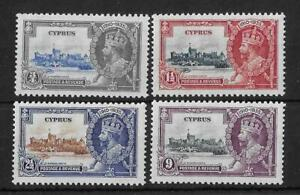 Cyprus 1935 Silver Jubilee SG144-147 Mint Cat£35