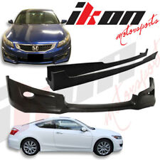 08-10 Honda Accord 2D Coupe HFP PU Front Bumper Lip Spoiler+Side Skirts Vents