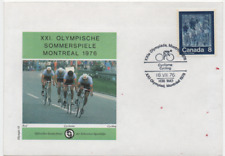 Kanada 1976 Sonderbrief Schweizer Sporthilfe Olympische Spiele Montreal MiNr.553