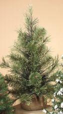 "GERSON 12"" MINIATURE PINE CHRISTMAS TREE w/ROUND PINE BURLAP BASE STYLE 1"