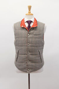NWT$2995 Brunello Cucinelli Mens Reversible Quilted Down Puffer Vest Size M A211