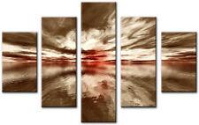 ESSEN Beige 7 160x90cm Large  wall art canvas print artwork home living room