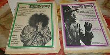 Rolling Stone Newspaper  1969 lot issues 25 and 26 Jimi Hendrix Janis Japlin