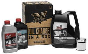 Twin Power 20W50 Oil Change In A Box Kit Harley-Davidson Heritage Softail 00-17