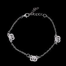 New Fashion Jewelry Cute Sliver Panda Bangle Bracelet Rhinestone (Three bear)